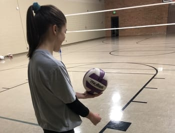 how to serve a volleyball underhand  better at volleyball