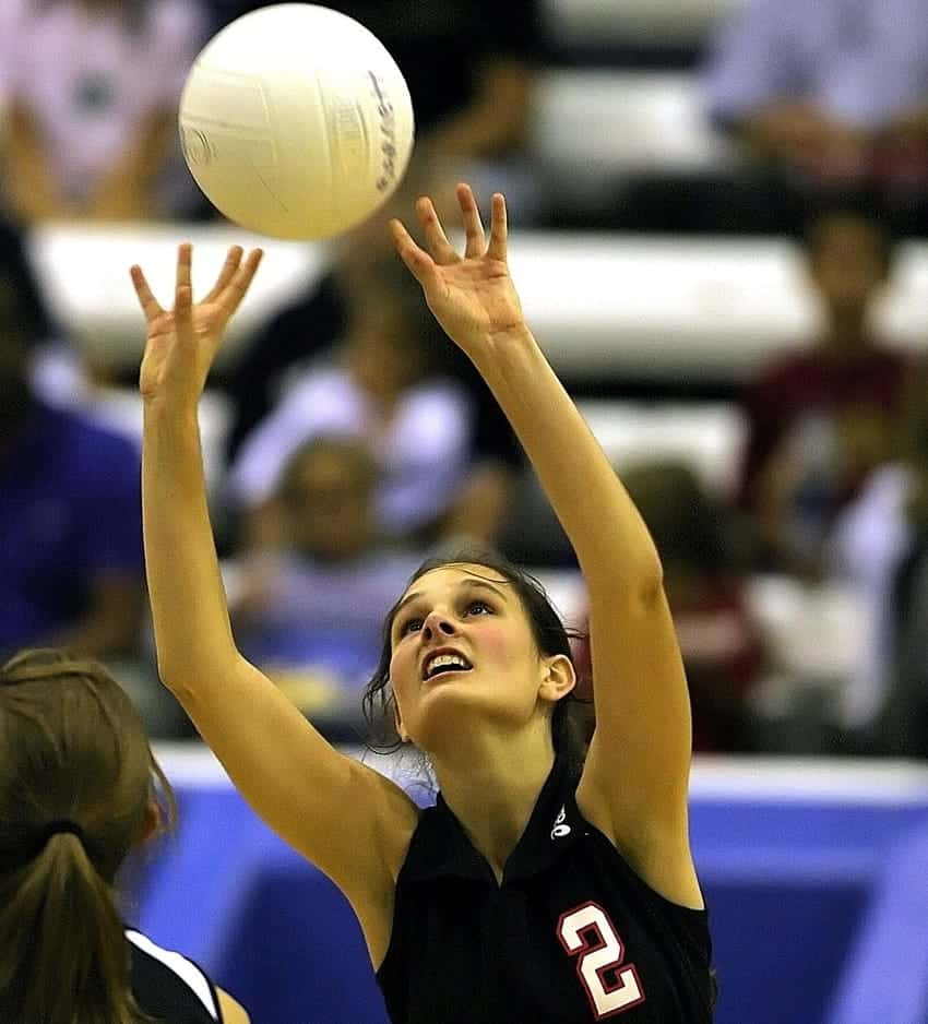 6 Volleyball Skills Passing Serving Setting Hitting Blocking Digging With Images Volleyball Skills Volleyball