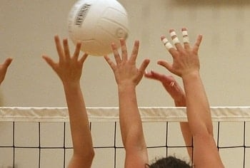 why do volleyball players tape their fingers  better at